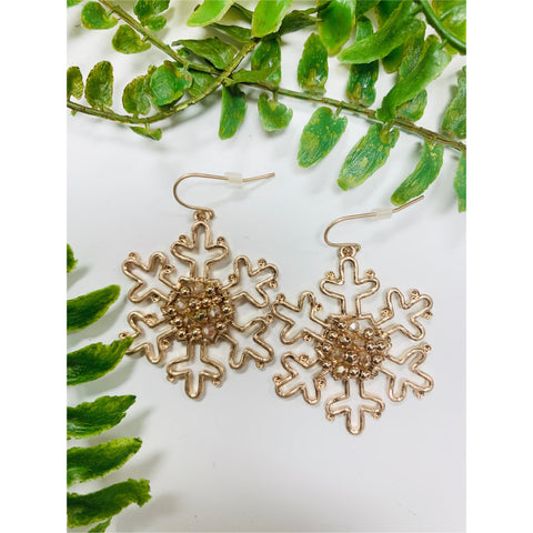 Central Park Snowflake Earrings