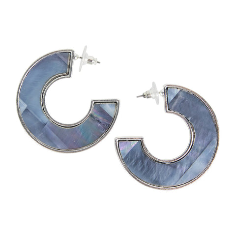 Jane Marie Black Zebra Star Earrings