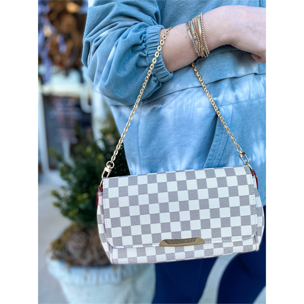 Designer Inspired Checked Purse
