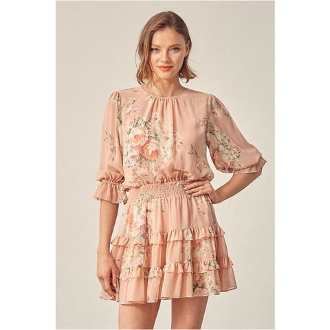 Krista Dress in Set Piece Pink