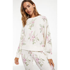 Z Supply Elle Floral Sweatshirt Top