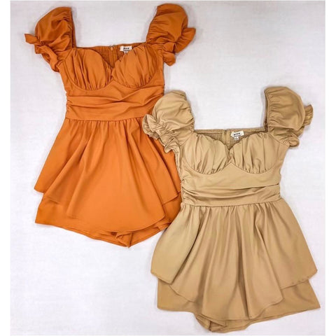 Shameless Romper in Dusty Peach