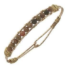 Canvas Artisan Wired Gemstone Bangle