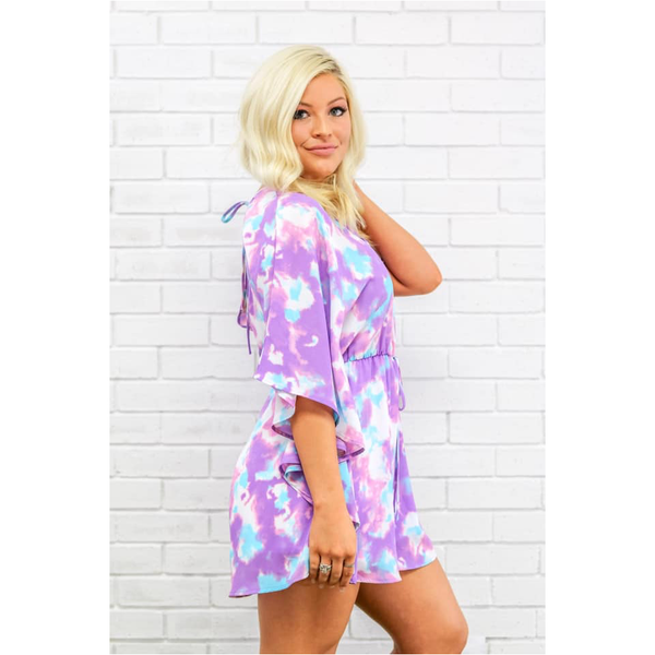 Erin Romper in Purple Clouds
