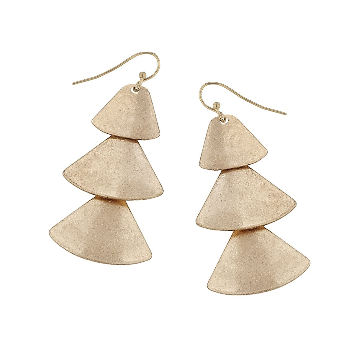 Canvas Metal Fan Earrings