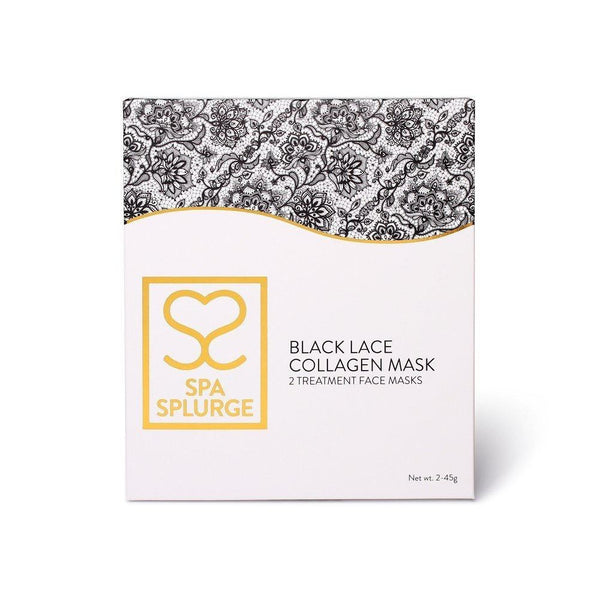 Spa Splurge Black Lace Collagen Mask