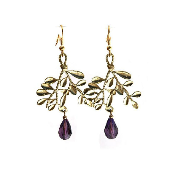 Matte Gold Leaves Earrings