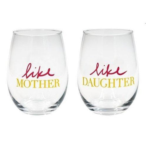 Like Mother/Like Daughter Wine Glass Set