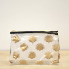 The Royal Standard Clear Fan Palm Cosmetic Bag