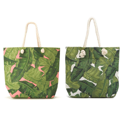 Palm Envy Leaf Tote