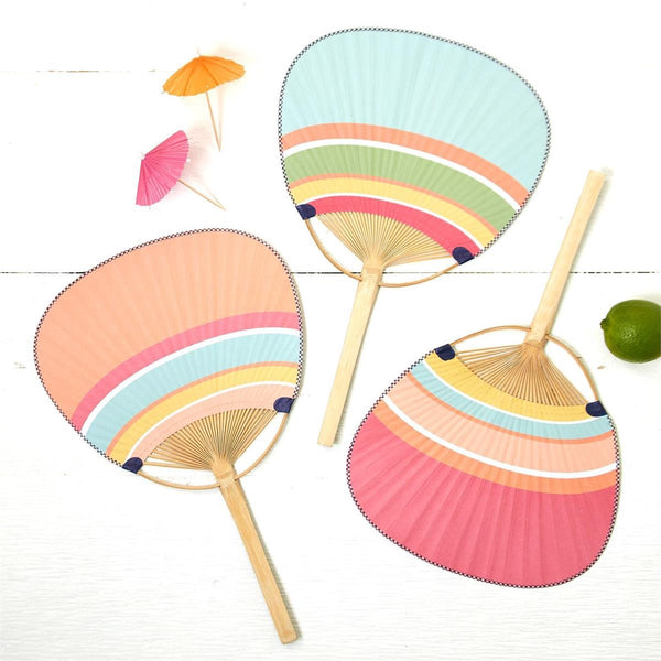 Splash of Color Hand Fan
