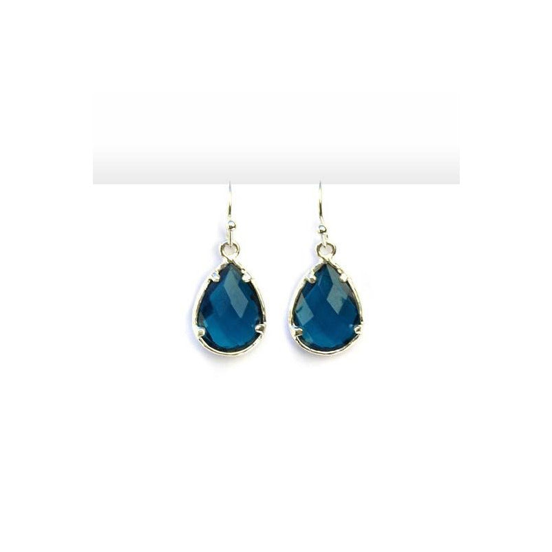 Glass Crystal Drop Earrings - A Little Bird Boutique  - 1
