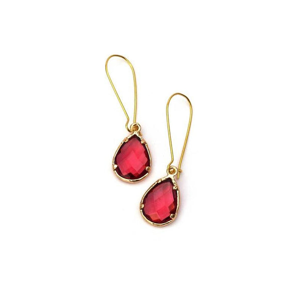 Glass Crystal Drop Earrings - A Little Bird Boutique  - 2