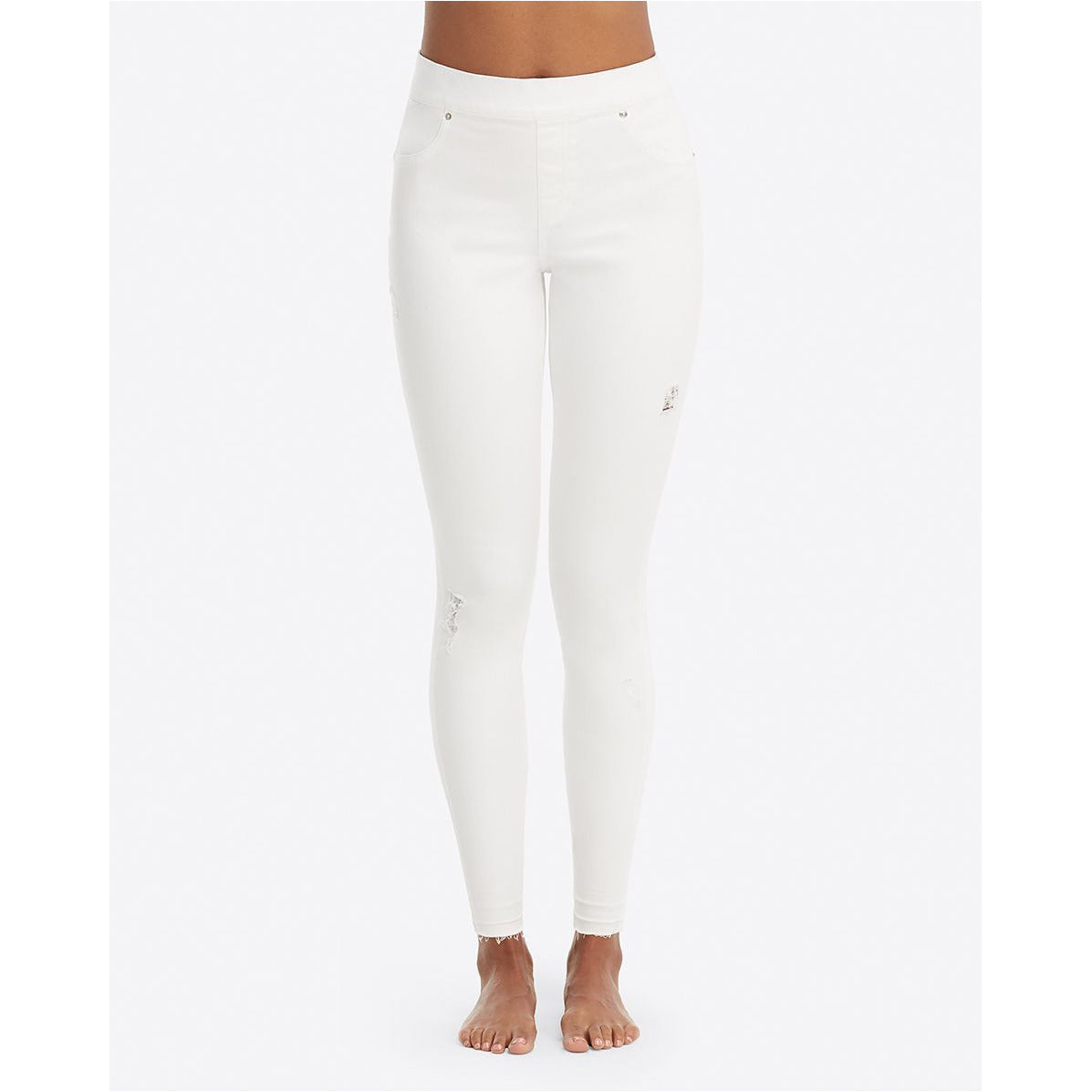77d71278983 Spanx Distressed Skinny Jeans In White – A Little Bird Boutique