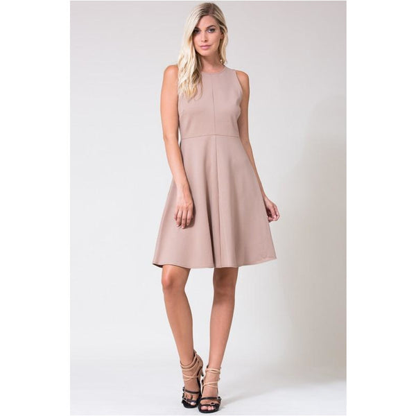 All Business Dress In Taupe