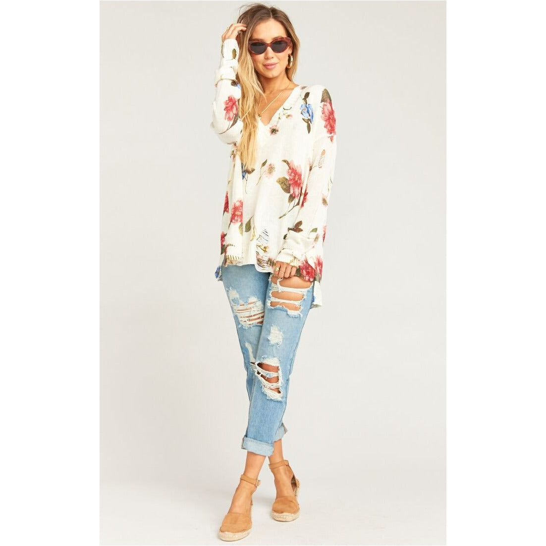 Show Me Your Mumu Cliffside Distressed Sweater