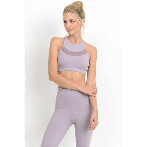 Cardi Sports Bra in Lavender