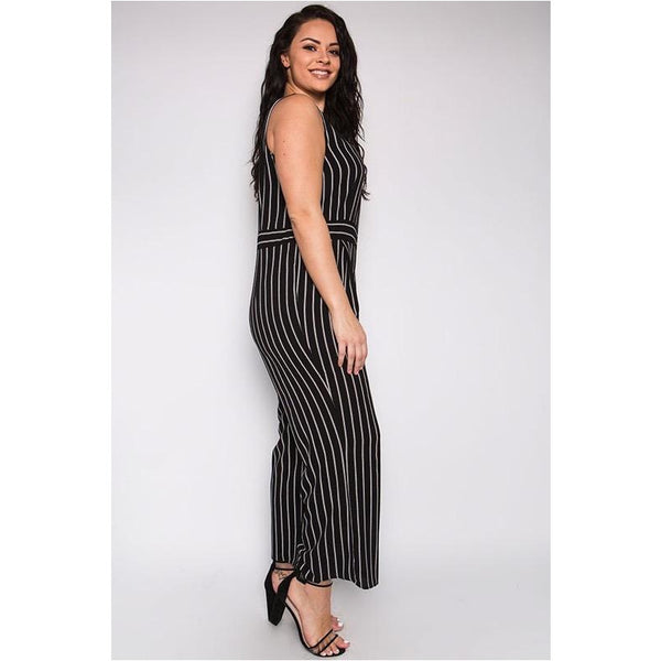 Stripe Where You Are Jumpsuit