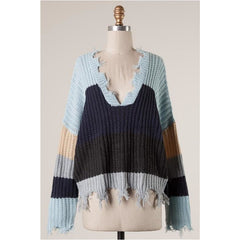 Haley Sweater in Blue Multi