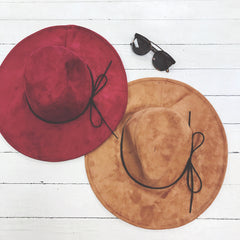 Travel With Me Suede Floppy Hat