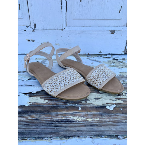 Topic Espadrille Platform Sandal in Dark Natural