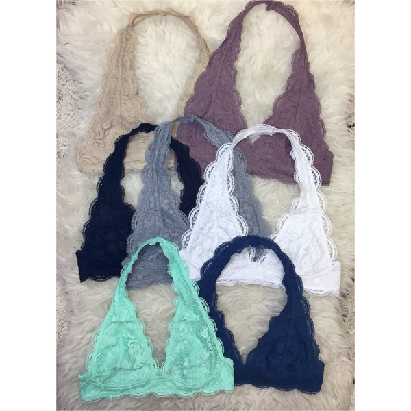 38a1263a97d6c A Little Bird Boutique. Menu. Home » Basics » Scallop Halter Bralette.  Scallop Halter Bralette