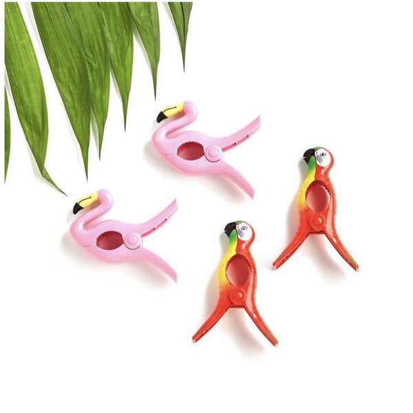 Tropical Breeze Beach Towel Clip Set