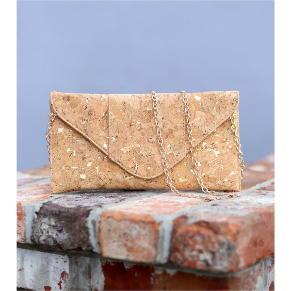 Calista Cork Clutch