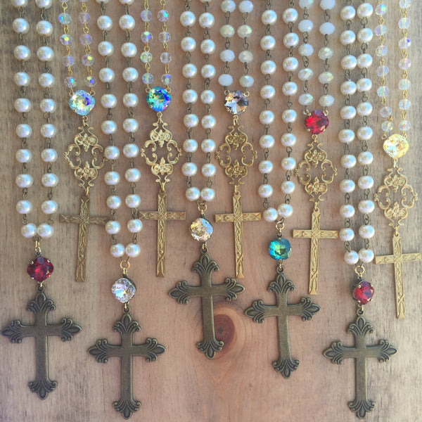 Swarovski Crystal and Cross Necklaces