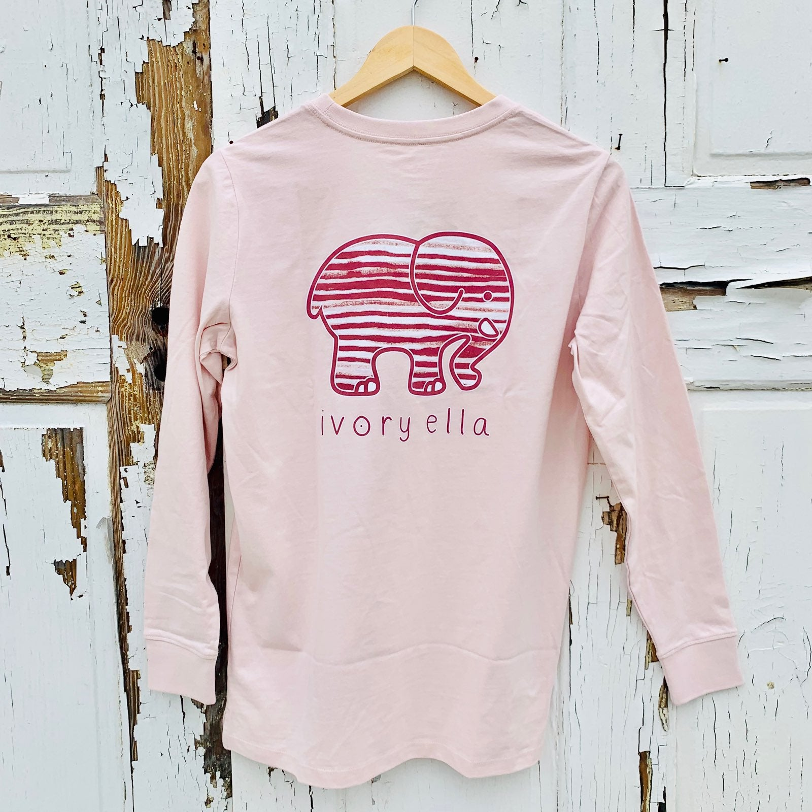 576847de4cff7 Ivory Ella Striped Elephant T-Shirt – A Little Bird Boutique