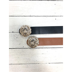 Metal Lion Buckle Belt