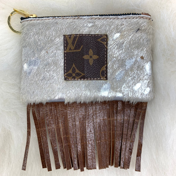 Refurbished Louis Vuitton Keychain Wallet With Fringe