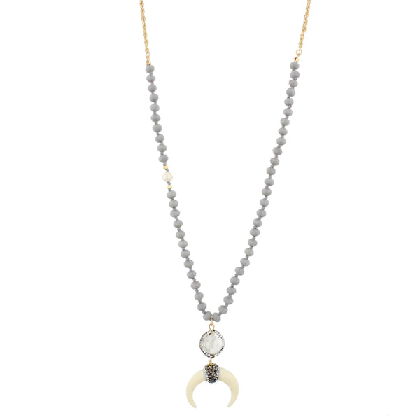 Jane Marie Double Horn Necklace