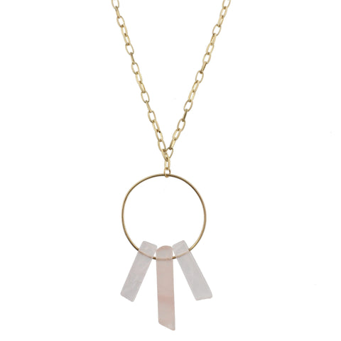 Jane Marie Stone Spikes on Gold Hoop Necklace