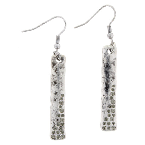 Jane Marie Silver Bar Earrings