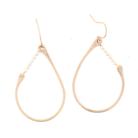 Jane Marie Side Accent Teardrop Earrings