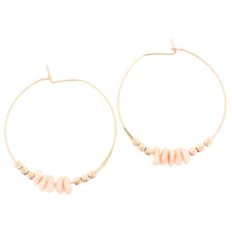 Jane Marie Gold Hoop & Stone Earrings