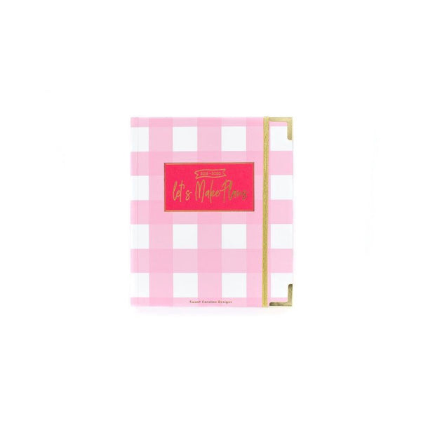 2019-2020 Pink Check Small 17 Month Planner