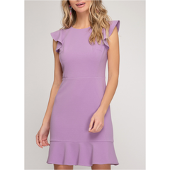 Sweet Sunday Dress in Lavender