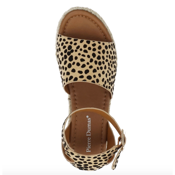 Topic Espadrille Platform Sandal in Cheetah