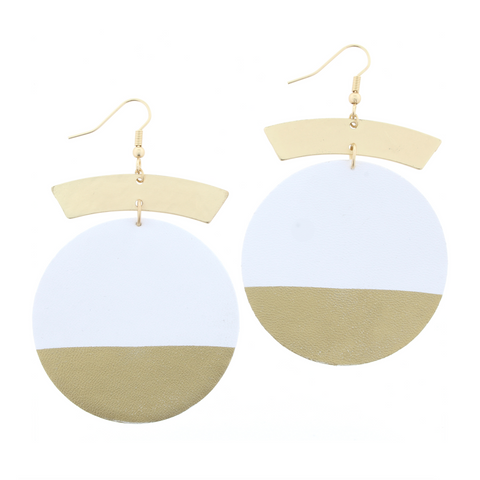 Jane Marie Pointed Oval Earrings