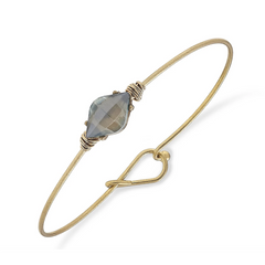 Brinkley Marquis Latch Bangle in Icy Grey