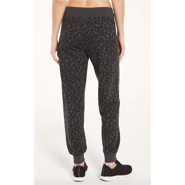 Z Supply Ava Leopard Jogger in Black