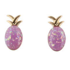 Jane Marie Pink Pineapple Studs