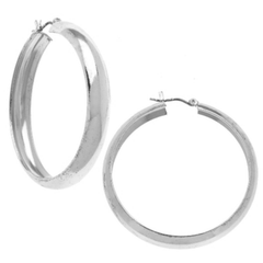 Susan Shaw Classic Silver Hoops