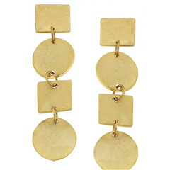 Susan Shaw Gold Linked Earrings