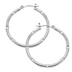 "Susan Shaw 1 1/4"" Silver Hoops"