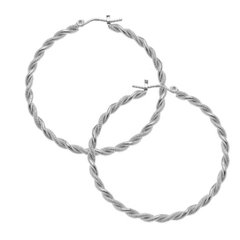 Susan Shaw Twisted Silver Hoops