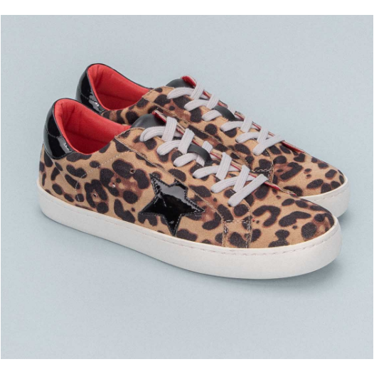 Leopard Star Sneakers