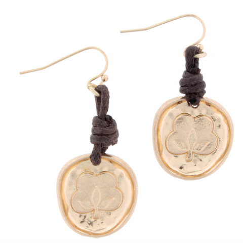 Jane Marie Dark Wooden Morrocan Dangle Earrings